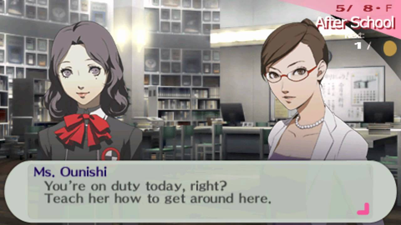dating guide persona 3 psp
