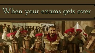 When your exams are over 🤪🤪ft.Ranveer singh(funny whatsapp status video)Sk sentiment