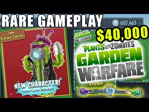 Rare Future Cactus Unlocked  Plants Vs. Zombies Garden Warfare Team Vanquish Gameplay