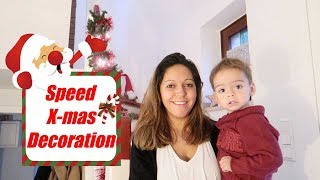 Speed Christmas Dekoration - Vlog#1066 Rosislife