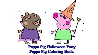 Peppa Pig Halloween Party | Peppa Pig Coloring Book