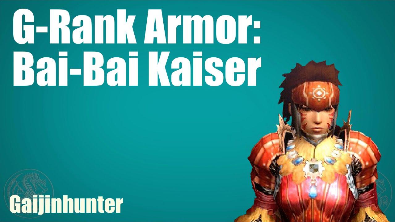 Empress Armor Mh4u Mh4u Bai-bai Kaiser Armor