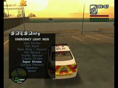 ELM v9 for GTA SA (Emergency Light Mod) - Released