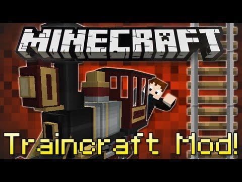 Minecraft   TRAINCRAFT MOD!   Realistic Trains in Minecraft! [1.4.7]