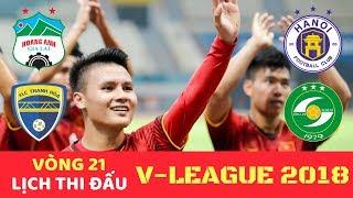 Lịch thi đấu & Trực tiếp Bóng đá V League 2018 Vòng 21 - Than Quảng Ninh vs Hải Phòng - VTV6 Hôm nay