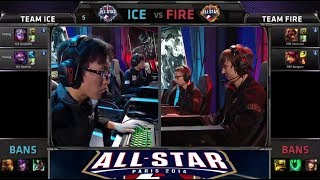 DoubleLift / MadLife vs Bjergsen / Diamond 2 v 2 | Team Ice vs Team Fire | All-star Paris 2014