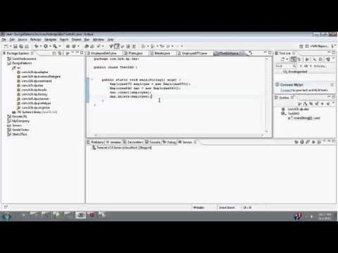 Java Singleton File Transfer / DAO / DFO / Java Online Training