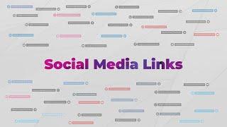 Social Media Links Premiere Rush Templates