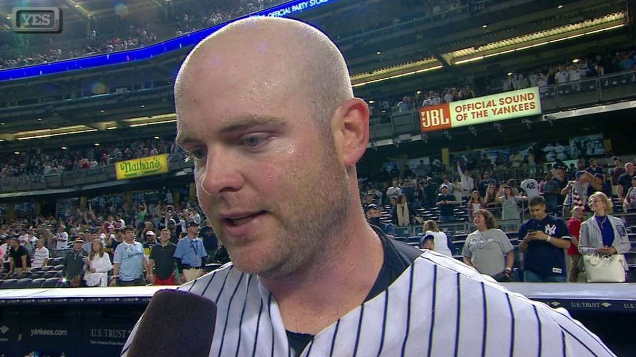 TB@NYY: McCann discusses his walk-off home run