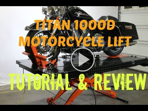Titan 1000D Motorcycle ATV Lift Table Jack Tutorial & Review   Biker Motorcycle Podcast