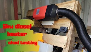 Awesome 5Kw Diesel Powered Rv Motor Home Heater Test in the Shed