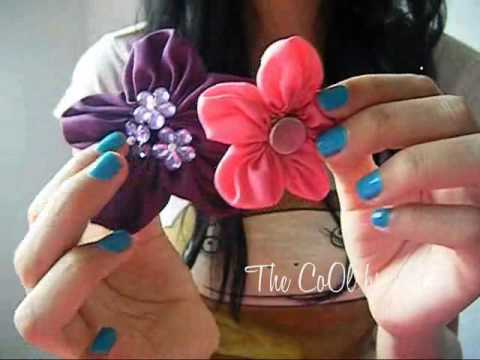 Flores de tela, super fácil! :)