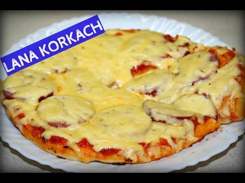 Рецепт пиццы на сковороде на дрожжах