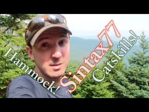 Hammock Camping The Catskill Mountains - New York Backpacking In Summer video