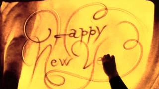Happy New Year! - Sand art by Paola Saracini