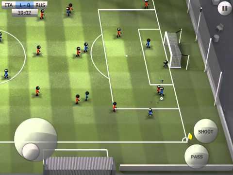 Stickman Soccer - Italy 2 / Russia 0