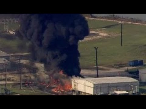 Chemical plant in Crosby, Texas engulfed in flames