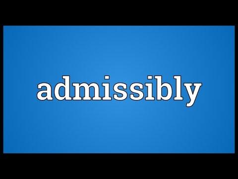 Header of Admissibly
