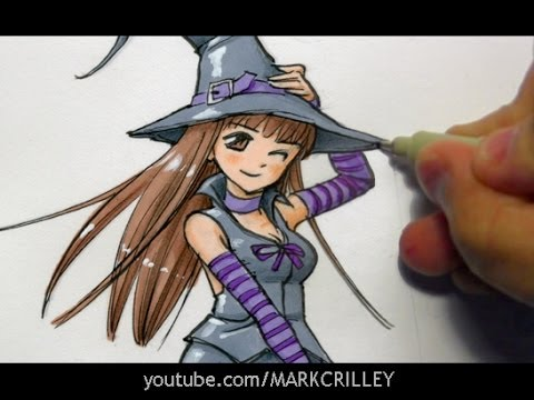Drawing Time Lapse: Witch (Manga Style)