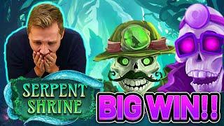 BIG WIN ! SERPENT SHRINE BIG WIN - €10 bet on Casino Slot from CASINODADDY