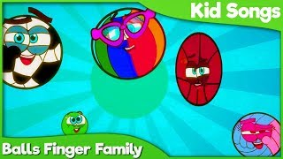 DADDY FINGER BALLS Version 2019 | Family Finger Nursery Rhymes | Educational Song for Kids