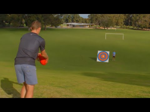 AFL FOOTBALL TRICK SHOTS!