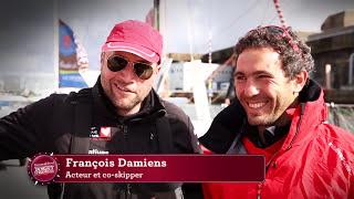 François Damiens et Tanguy de Lamotte en duo sur la Transat Jacques Vabre 2013