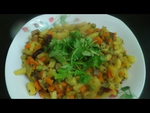 Mixed Vegetable in Bengali Style (Chorchori Recipe)