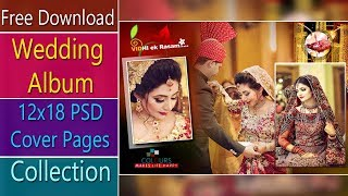 Free Download Wedding Album 12x18 PSD Cover Pages Collection