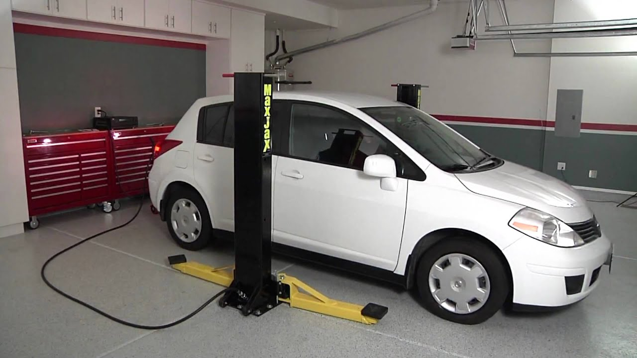 Maxjax car lift youtube for Garage low cost auto