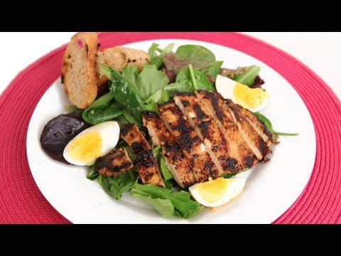 Grilled Chicken Caesar Salad Recipe &#8211; Laura Vitale &#8211; Laura in the Kitchen Episode 577