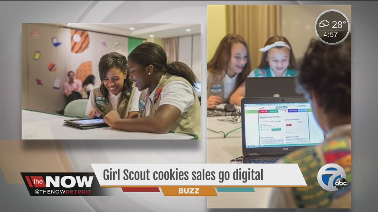 girl scout cookie sales go digital   youtube