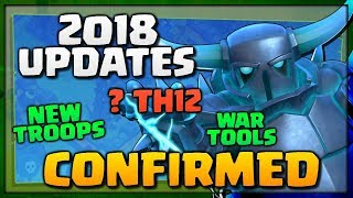 "NEW ""Clash of Clans"" UPDATES [2018] - New Troops, ? TH12, BH8, War Tools - Exciting Updates for CoC!"
