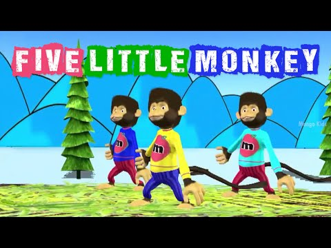 Five Little Monkeys  | Animation  Nursery Rhyme video