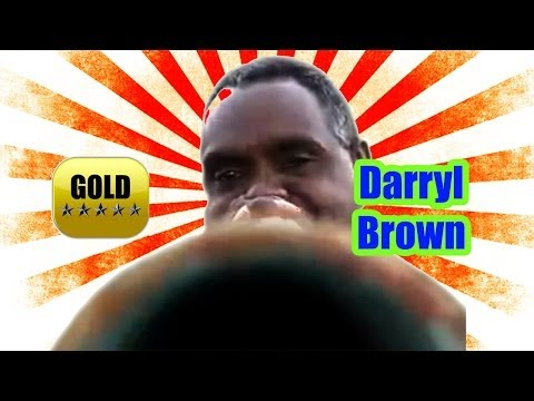 Australian Aboriginal didgeridoo player | Darryl Brown