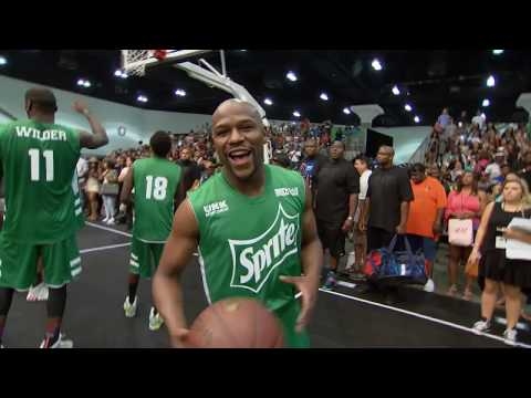 Floyd Mayweather vs Chris Brown and Snoop On Basketball Court BET Celeb Game