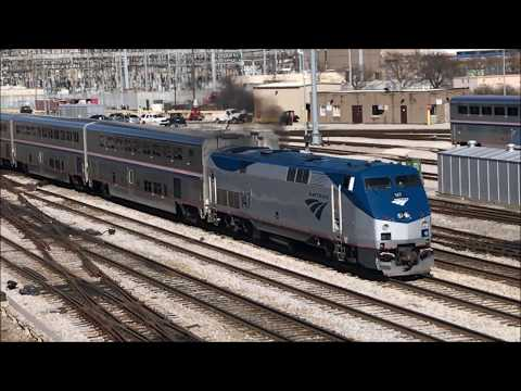 The Amtrak Long-Distance Trains of Downtown Chicago