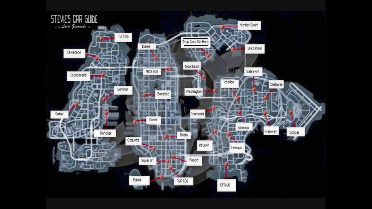 gta4hiddencars gta 4 you got the message trophyachievement map - Gta 4 Secret Cars Locations Xbox 360