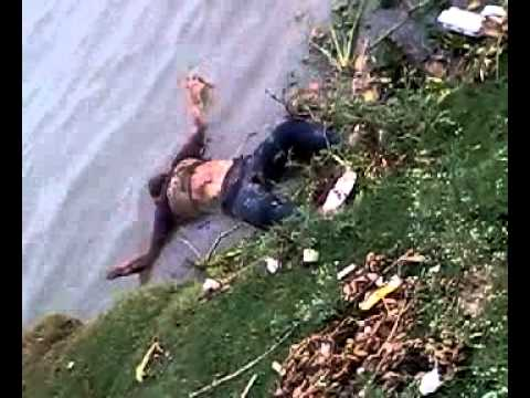 River Pollution by a dead body in river Ganga