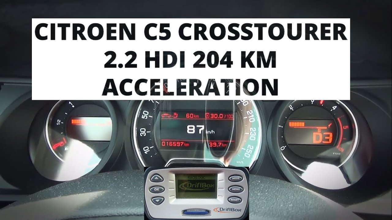 citroen c5 crosstourer 2 2 hdi 204 hp acceleration 0 100 km h youtube. Black Bedroom Furniture Sets. Home Design Ideas