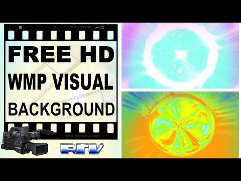 FREE HD Background fresh colors Visualizations WMP