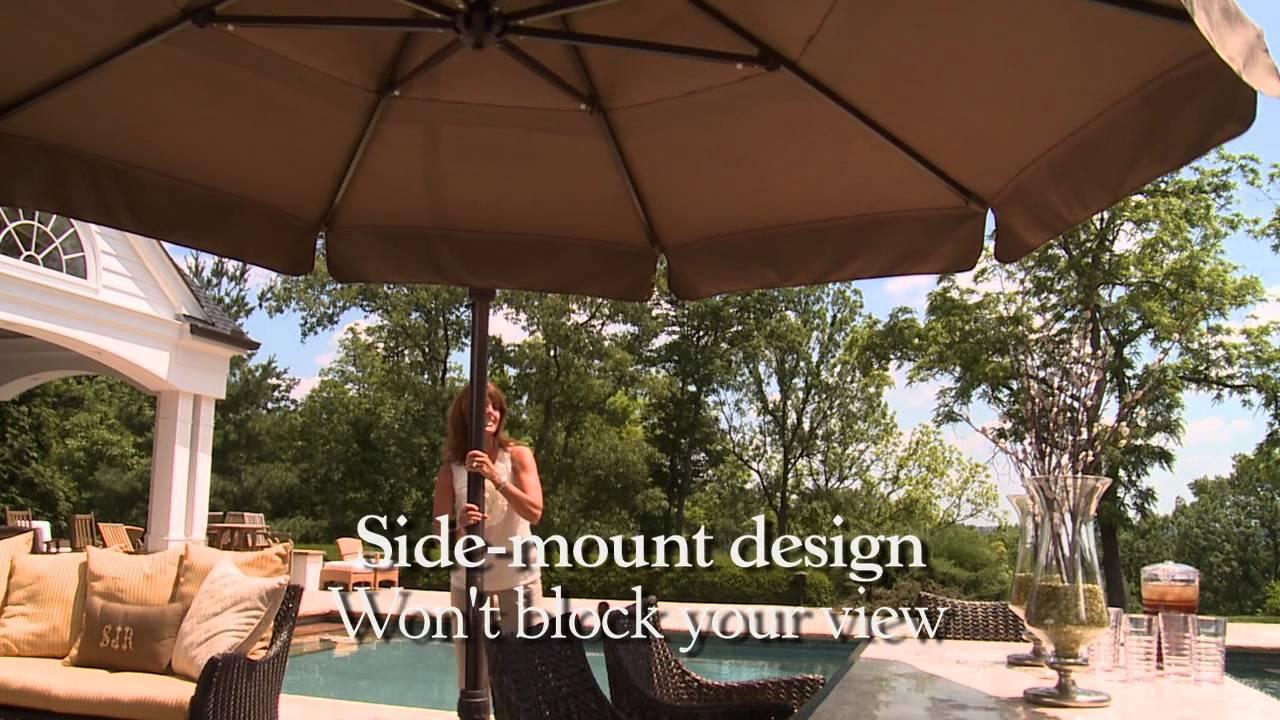 11 Ft Round Side Mount Umbrella Youtube
