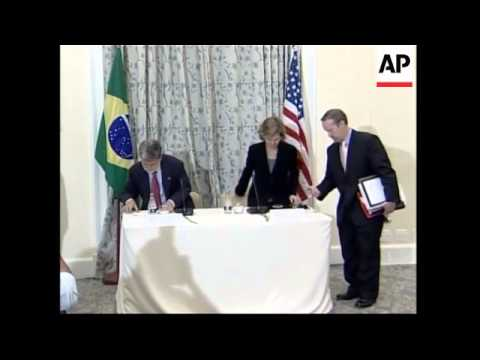 U.S. Trade Representative Susan Schwab meets with Brazilian FM