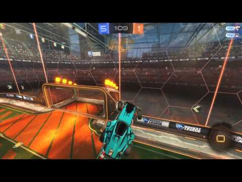 Rocket League - Double hit wall aerial