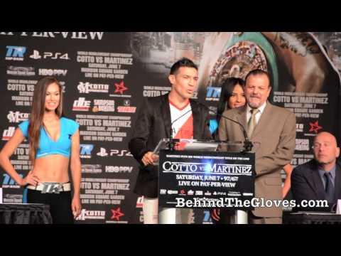 Miguel Cotto Sergio Martinez Final Press Conference HIghlights