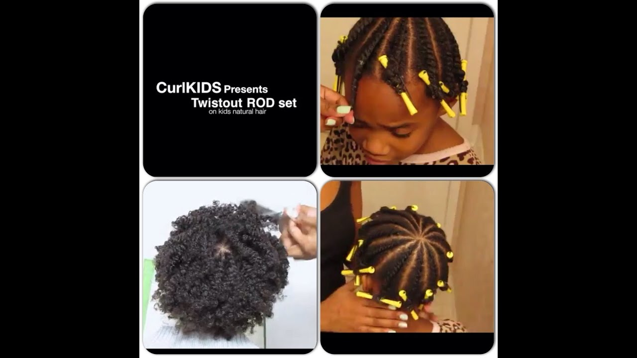 flat twistout rod set on kids natural hair youtube