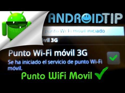 Como hacer funcionar Punto WiFi Movil en Android -