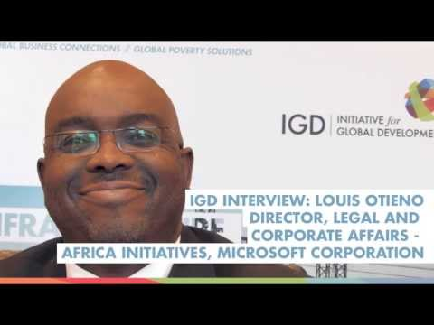 IGD Interview: Louis Otieno, Director, Africa Initiatives, Microsoft Corporation