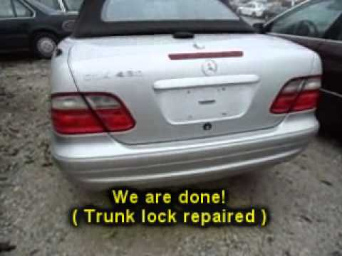 atlanta ga 2001 mercedes clk430 trunk lock problem youtube. Black Bedroom Furniture Sets. Home Design Ideas