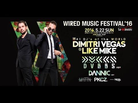WIRED MUSIC FESTIVAL 2016 Dimitri Vegas & Like Mike(Japan)